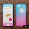 เคส iPhone 5 / iPhone 5s / iPhone SE เคสแข็งความยืดหยุ่นสูง (ด้านหน้า/ด้านหลัง) สีสันสดใส (สีฟ้า/สีชมพู)