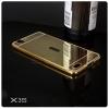 เคส Vivo X3 (X3S,X3T) l เคสฝาหลัง + Bumper (แบบเงา) ขอบกันกระแทก สีทอง