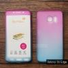 เคส Samsung Galaxy S6 Edge เคสแข็งความยืดหยุ่นสูง (ด้านหน้า/ด้านหลัง) สีสันสดใส (สีชมพู/สีฟ้า)