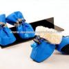 รองเท้าสุนัข รองเท้าแมว สีน้ำเงิน (4 ข้าง)