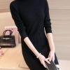 เสื้อกันหนาวไหมพรม พร้อมส่ง สีดำ คอปิด แต่งลายน่ารัก แขนยาว ตัวยาวคลุมสะโพก ใส่กันหนาวได้ค่ะ ผ้าไหมพรมมีความยืดหยุ่นได้