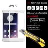 (มีกรอบ) กระจกนิรภัย-กันรอยแบบพิเศษ ขอบมน 2.5D (OPPO R7 | OPPO R7 Lite) ความทนทานระดับ 9H สีขาว
