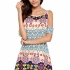 ZANZEA Plus Size Womens Round Neck Long Sleeve Loose Hem FleeceMini Dress (Intl)