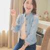 เสื้อแจ็กเก็ตยีนส์ พร้อมส่ง สไตล์เกาหลี หัวไหล่พองๆ นิดๆ น่ารักๆ สินค้าตัวจริงสวยมาก