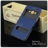 เคส Samsung Galaxy J7 เคสฝาพับ พร้อมช่องรูดรับสาย สีน้ำเงิน