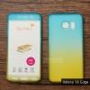 เคส Samsung Galaxy S6 Edge เคสแข็งความยืดหยุ่นสูง (ด้านหน้า/ด้านหลัง) สีสันสดใส (สีฟ้า/สีเหลือง)