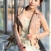 เสื้อแจ็คเก็ต เสื้อหนังแฟชั่น พร้อมส่ง สีชมพูอ่อน แบบเท่ห์ๆ อินเทรนด์ สไตล์เกาหลี