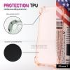 เคส iPhone 7 และ 8 เคสนิ่ม TPU แบบหนา (Protection TPU) เสริมมุมลดแรงกระแทก สีส้มใส