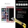 กระจกนิรภัย-กันรอยแบบพิเศษ (มีกรอบ) ขอบมน 2.5D (iPhone 6 / 6s) ความทนทานระดับ 9H สีชมพู (Rose gold)