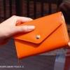 กระเป๋าสตางค์แฟชั่น สไตล์เกาหลี สีส้มสุดจี๊ด ใบยาว(รุ่นใหม่) แต่งมงกุฎ งานสวยน่ารัก น่าใช้มากๆค่ะ