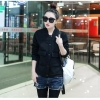 KK เสื้อคลุมแขนยาว สไตส์เกาหลี กระเป๋าหน้า สีดำ รุ่น AW390(L)