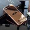 เคส HTC Desire 728 เคสฝาหลัง + Bumper (แบบเงา) ขอบกันกระแทก สีโรสโกลด์
