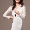 DRESS ชุดเดรสสั้นคอวี ผ้าลูกไม้ เข้ารูป โทนสีขาว ใส่ออกงาน แบรนด์ R.J STORY สวย น่ารักมากๆ