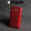 เคส Samsung Galaxy Core 2 Duos | เคสแข็ง (Hard case) สีเรียบสี แดง