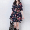 Women Sleeveless VNeck Cat Print Mini Women is Dresses Online