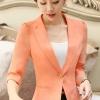เสื้อสูทแฟชั่น เสื้อสูทสำหรับผู้หญิง พร้อมส่ง สีส้ม ผ้าโพลีเอสเตอร์ คอตตอน 100 % เนื้อดี คุณภาพงานพรีเมี่ยม งานตัดเย็บเนี๊ยบ ไม่มีซับในระบายอากาศได้ค่ะ