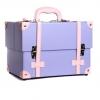 กระเป๋าใส่เครื่องสำอาง กล่องเครื่องสำอาง สีม่วง Beautysecretd high-end custom wood vanity case series purple retro portable