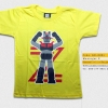 T-Shirt เสื้อยืดเด็ก เสื้อยืดกันดั้ม Mazinger Z มาซินเกอร์ Z หุ่นกายสิทธิ์ (Zaku II) สุดเท่ห์ สีเหลือง จากร้าน GUNZU เสื้อยืดเด็ก!! Asia Street Fashion