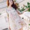 Korea Design By Lavida sweety floral printed feminine cream dress