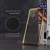 เคส Huawei Mate 8 เคสนิ่ม TPU ใส (ขอบเงา) สีทอง