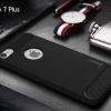 """เคส iPhone 7 Plus (5.5"""") เคส iPaky เคสนิ่มเกรดพรีเมี่ยม (Texture ลายโลหะขัด) กันลื่น ลดรอยนิ้วมือ สีดำ"""