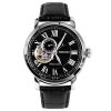 Seiko SSA233K1 Automatic Mens Black Dial Black Leather Band Watch