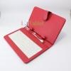เคสคีย์บอร์ด สวยๆ แป้นพิมพ์ไทย-อังกฤษ Micro USB สำหรับแท็บเล็ต 7 นิ้ว -สีแดง
