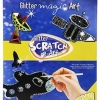 Glitter scratch & art - Traffic แผ่นทำศิลปะการขูดสี - ชุดยานพาหนะ