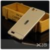 เคส Vivo X3 (X3S) เคสกันกระแทก Bumper + ฝาหลัง สีทอง
