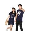 Gring Fashion Couple Shop Fashion Dresses Online + T-Shirt LL-0015cS (Navy)