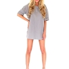 Zanzea Women Loose T Shirt A-line Shop Fashion Dresses Online Casual Blouse Gray