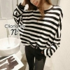 Cliona's made, Autum stripe Oversize Sweater Knit