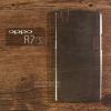 เคส OPPO R7s เคสแข็งสีเรียบความยืดหยุ่นสูง สีดำใส