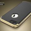 """เคส iPhone 7 (4.7"""") เคส iPaky Hybrid Bumper เคสนิ่มพร้อมขอบบั๊มเปอร์ สีดำขอบทอง"""