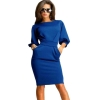 ZANZEA Fashion Women OL Business Party Evening Cocktail Midi PencilShop Fashion Dresses Online Bodycon Slim Royal