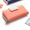 กระเป๋าสตางค์ YADAS พร้อมส่ง สีส้ม แต่งคาดกระดุมแป๊กด้วยสีครีมเก๋ๆ ทรงเรียบหรู ใบยาว DESIGN สุดเก๋ แต่งจี้ห้อยน่ารัก ไฮโซมากๆ