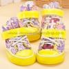 รองเท้าสุนัข รองเท้าแมว แบบผ้าใบ สีเหลือง (4 ข้าง)