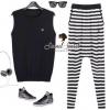 CC Stripy Knit Set by Seoul Secret
