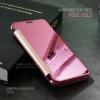เคส Samsung Galaxy A7 (2016) เคสฝาพับ ฝาหลังแบบเงา สีชมพู