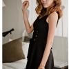 dress เดรสสั้นแขนกุด ใส่ทำงาน ผ้าชีฟอง ใส่ออกงาน เซ็กซี่ น่ารัก Asia Street Fashion