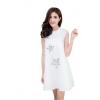 NINA ชุดเดรสสำหรับผู้หญิงลายดาว (สีขาว)