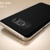 เคส Samsung Galaxy Note FE เคส iPaky Hybrid Bumper เคสนิ่มพร้อมขอบบั๊มเปอร์ สีดำ ขอบ ทอง Gold