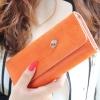 กระเป๋าสตางค์ YADAS พร้อมส่ง สีส้ม หนัง PU ทรงเรียบหรู ใบยาว DESIGN สุดเก๋ ไฮโซมากๆ