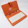 เคสคีย์บอร์ด สวยๆ แป้นพิมพ์ไทย-อังกฤษ USB สำหรับแท็บเล็ต 7 นิ้ว -สีส้ม