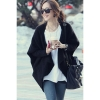 Cyber Batwing CapeKnit Top Cardigan Coat (Black)