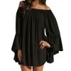 zanzea Long Sleeve Party Mini Dress (Black)