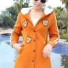 เสื้อกันหนาว พร้อมส่ง สีส้ม ลายหมีน่ารัก กระดุมแป๊ก มีฮูทสุดเท่ห์ ฮูทบุด้วยขนสัตว์สังเคราะห์นิ่มๆ งานเหมือนแบบแน่นอนค่ะ แขนยาวแต่งแถบแขนสีขาวสุดเก๋ มีกระเป๋าใช้งานได้
