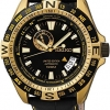 SEIKO MEN SUPERIOR AUTOMATIC LIMITED EDITION YELLOW GOLD LEATHER SSA190K1