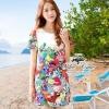 Multicolour cartoons printing dress