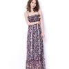 maxi dress ชุดเดรสยาวแฟชั่น สายเดี่ยว ผ้าชีฟอง ลายดอกไม้ สวย น่ารักๆ
